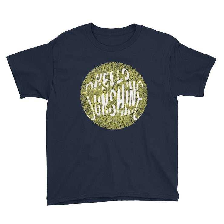 Youth Short Sleeve T-Shirt - Hello Sunshine Navy / XS