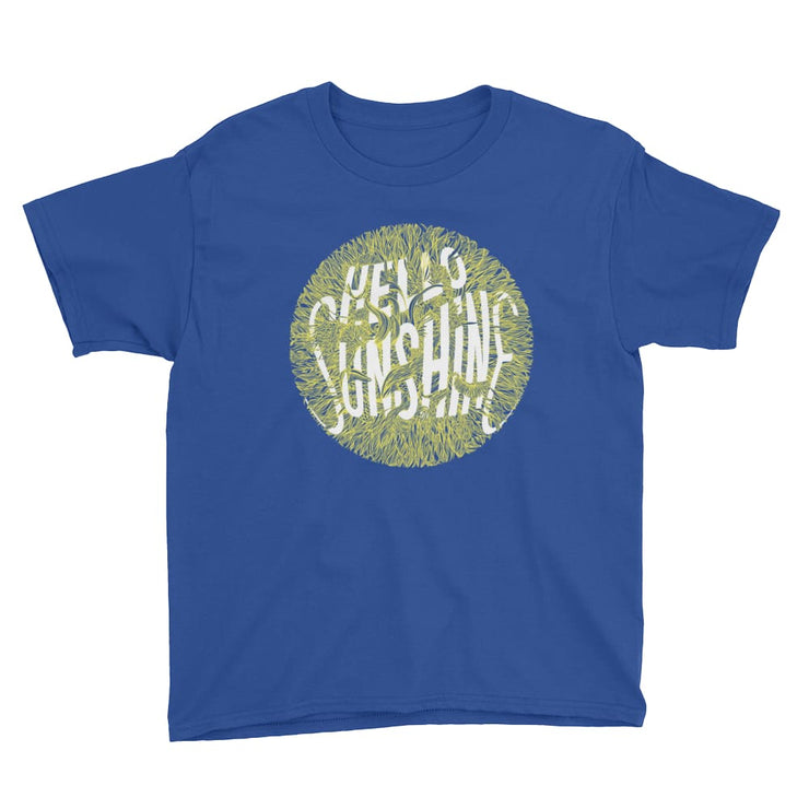 Youth Short Sleeve T-Shirt - Hello Sunshine Royal Blue / XS