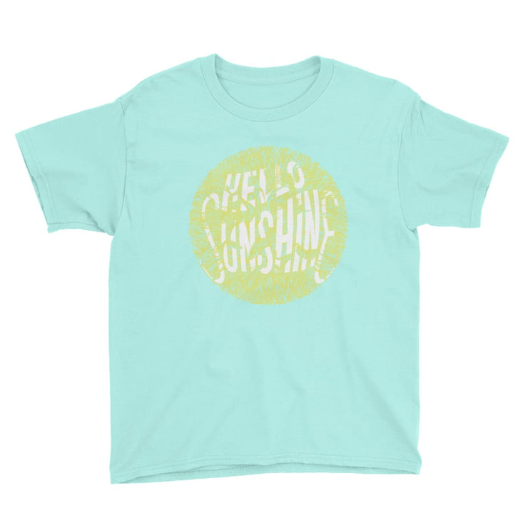 Youth Short Sleeve T-Shirt - Hello Sunshine Teal Ice / M