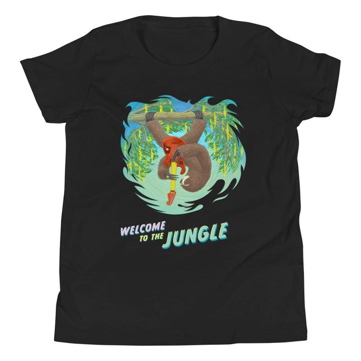 Youth Short Sleeve T-Shirt - Welcome to the Jungle Black / S