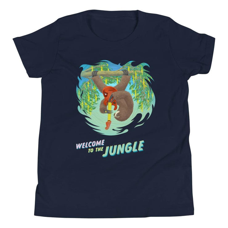 Youth Short Sleeve T-Shirt - Welcome to the Jungle Navy / S