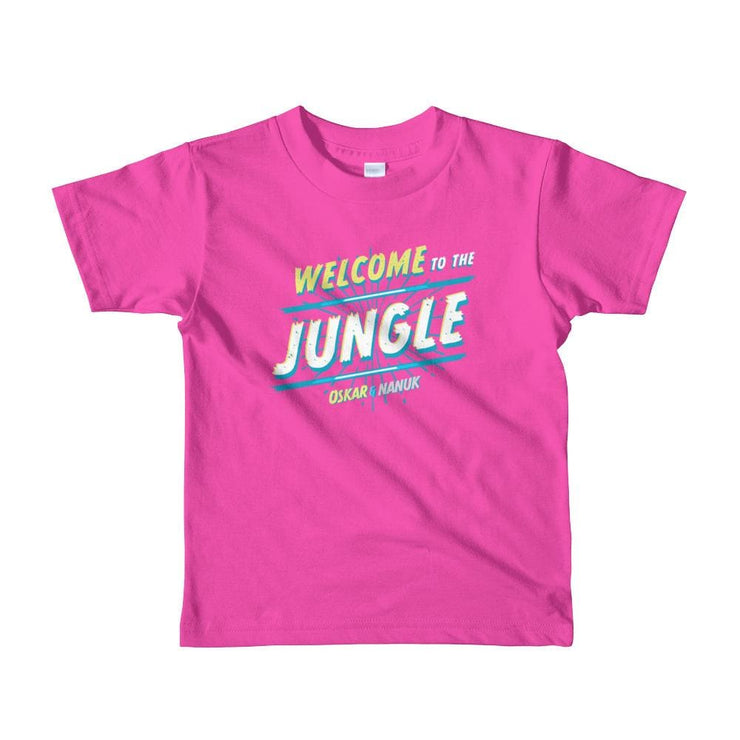 Youth Short Sleeve T-Shirt - Welcome to the Jungle - text Fuchsia / 2yrs
