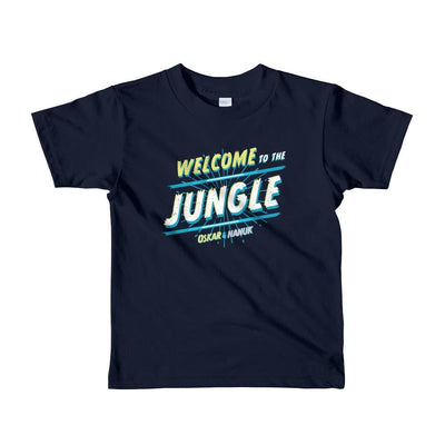 Youth Short Sleeve T-Shirt - Welcome to the Jungle - text Navy / 2yrs