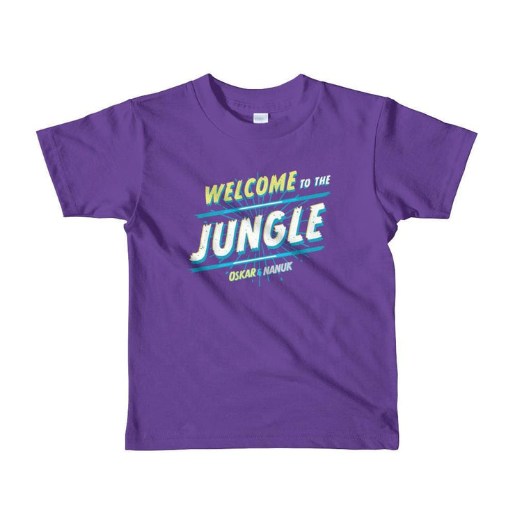 Youth Short Sleeve T-Shirt - Welcome to the Jungle - text Purple / 2yrs