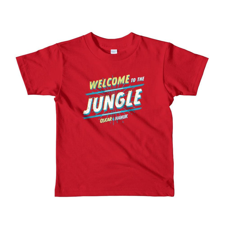 Youth Short Sleeve T-Shirt - Welcome to the Jungle - text Red / 2yrs