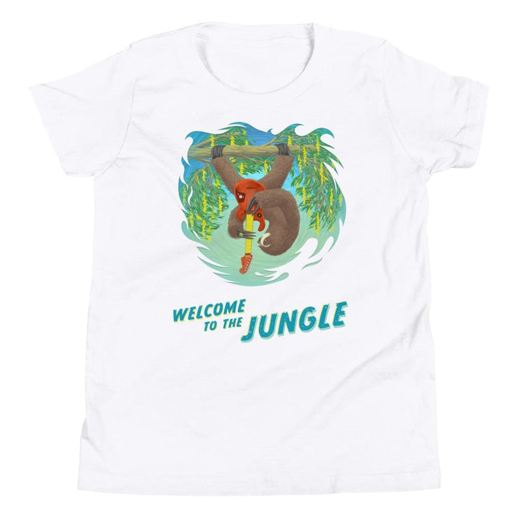 Youth Short Sleeve T-Shirt - Welcome to the Jungle White / S