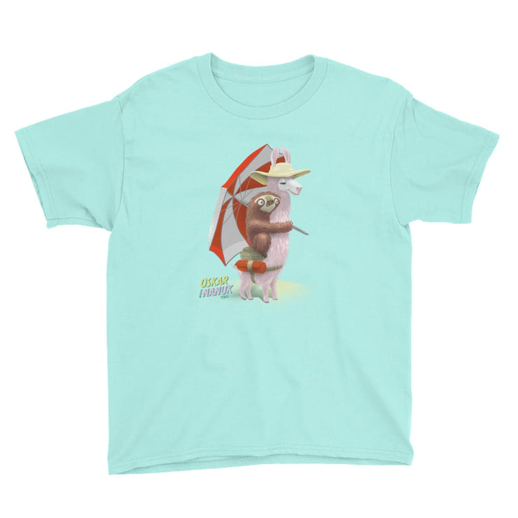 Youth Unisex Short Sleeve T-Shirt - Beach Pals Teal Ice / M