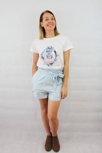 Blue Ellie Shorts