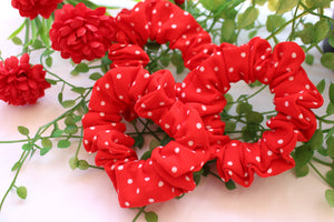 Red Polka Dot Scrunchie