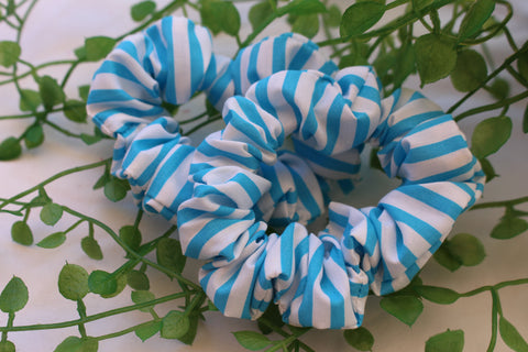Blue Zebra Scrunchie