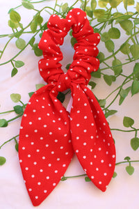 Red Polka Dot Long Tail Tie