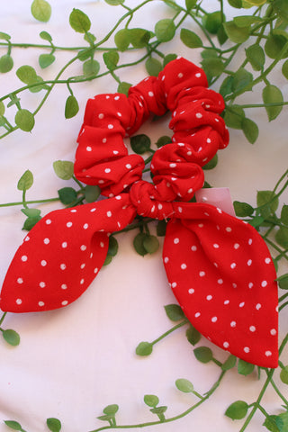Red Polka Dot Short Tail Tie