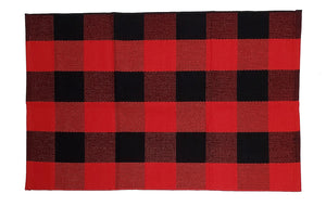 Red & black checked Under-mat