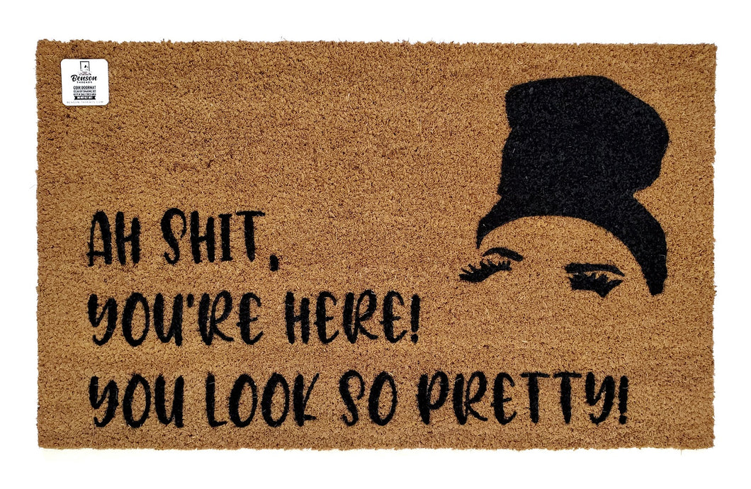 Ah shit, you're here! You look so pretty! Rosa Inspired doormat