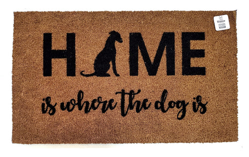 Home is where the dog is - Italian Greyhound doormat