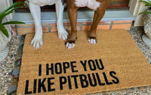 I hope you like pitbulls