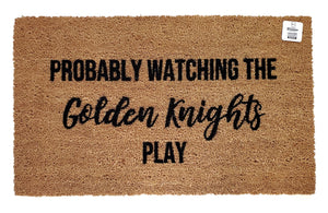 Probably Watching the Golden Knights Play doormat