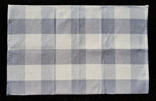 Light Gray & White Checkered Under-Mat