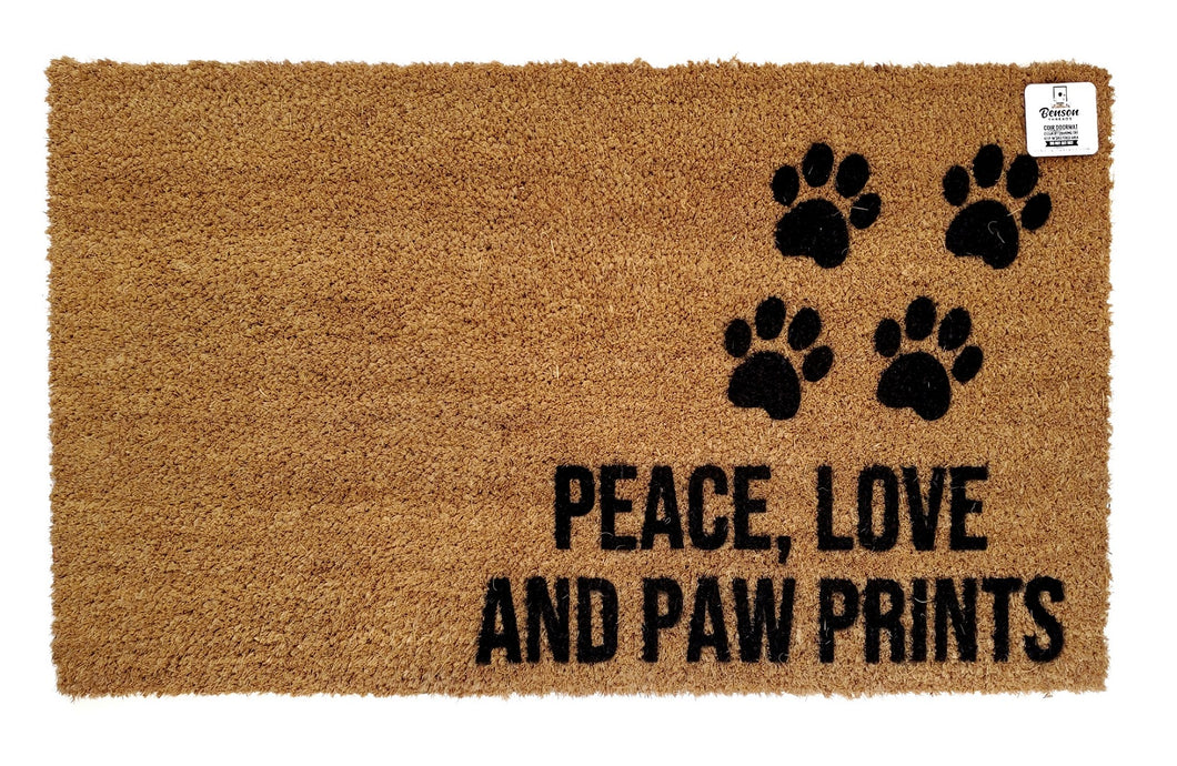 Peace, love paw prints
