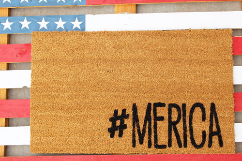 America Door Mat, letting your visitors know you love your freedom.