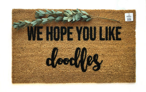 We hope you like doodles fancy doormat