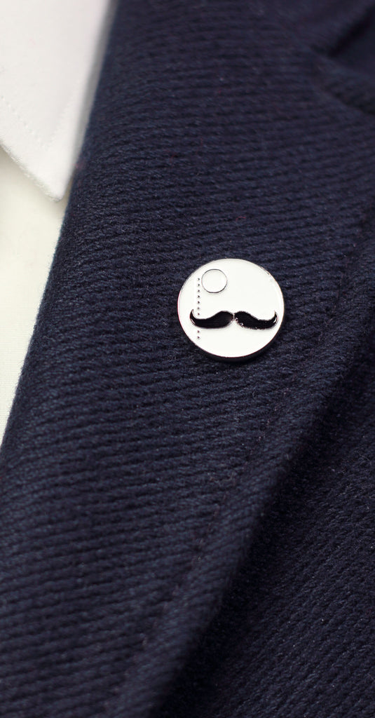 Mustache Enamel Pin: Featured Product Image