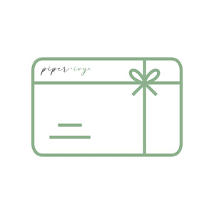 piper + ivy electronic gift card