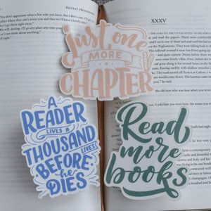 book quotes sticker pack