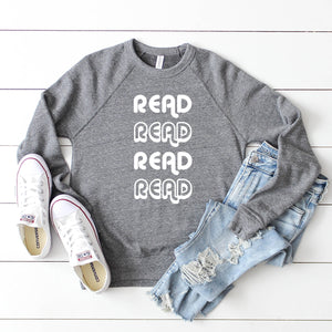read read read unisex sweatshirt- Piper and Ivy