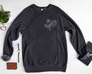 three leaf unisex sweatshirt