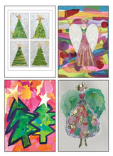 Load image into Gallery viewer, Art by Ash Rose Christmas Card Set (4 Pack)