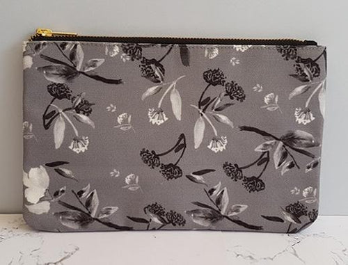 Black and White Floral Clutch
