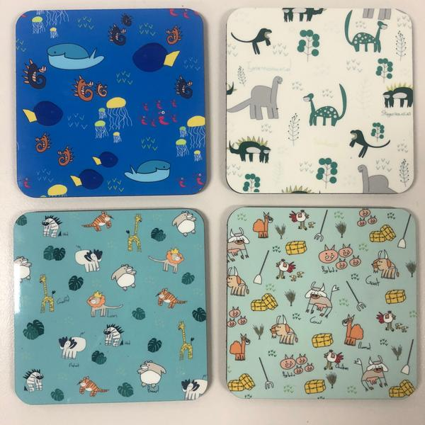 Animal Coasters (4pc)