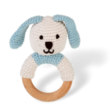 Load image into Gallery viewer, Wooden Ring Bunny Rattle