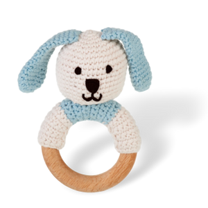 Wooden Ring Bunny Rattle