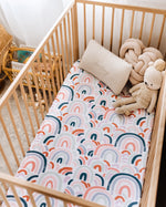Load image into Gallery viewer, Rainbow Baby | Fitted Cot Sheet