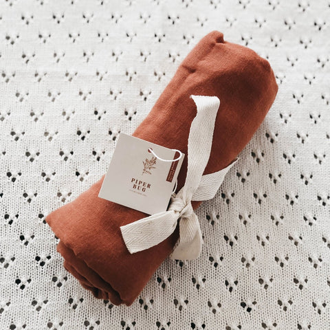 Rust | Cotton Swaddle