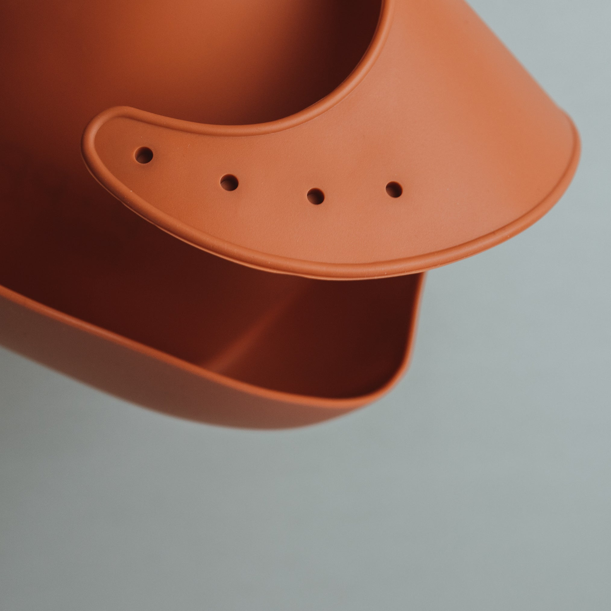 Red Rusty Silicone Bib