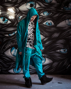 Acid Blue Assassin Robe