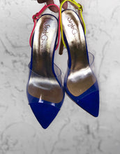 Load image into Gallery viewer, SybG blue heels shoes