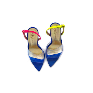 SybG blue heels shoes