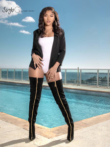 """Top of the Line"" Thigh-High Boots"