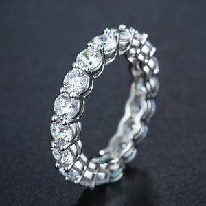 Stackable round eternity ring