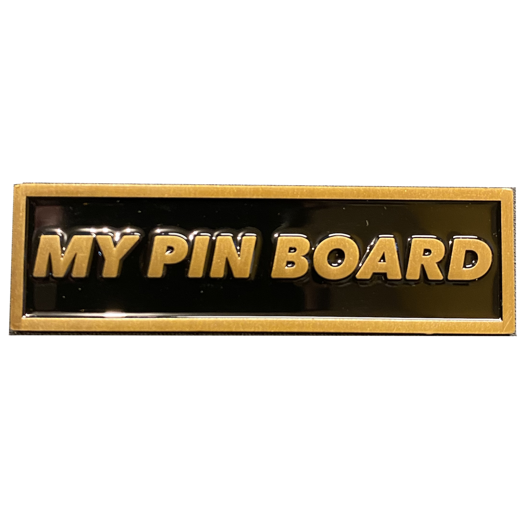 Pin Board name plate pin for pin collectors pin board collections (bronze) DL6-07
