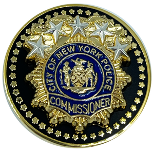NYPD Commissioner Lapel Pin as seen on Blue Bloods real 24KT Gold and Silver Plated BL9-017
