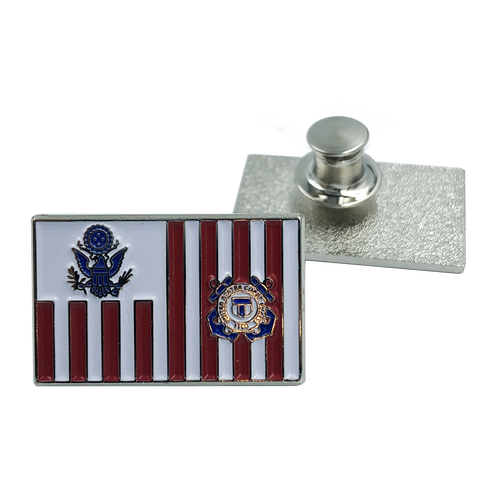 Coast Guard Lapel Pin Coastie USCG Flag ensign M-14