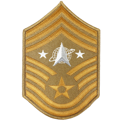United States Space Force Lunar Desert Camo Moon Patch U.S.Department of Air Force Senior Enlisted Advisor Chief Master Sergeant Rank DL3-09