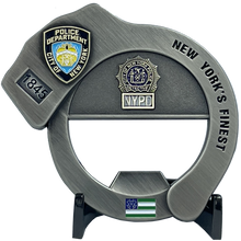 Load image into Gallery viewer, NYPD Officer Sergeant Detective Handcuff Bottle Opener Challenge Coin BL9-019