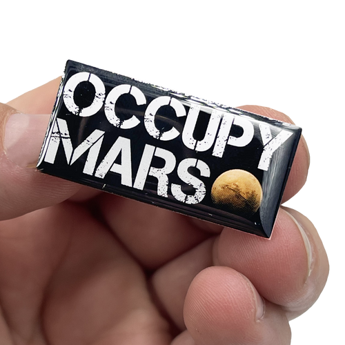 Elon Musk OCCUPY MARS pin SpaceX Tesla pin with 2 pin posts EL6-014