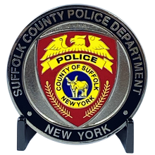 Load image into Gallery viewer, Canine K9 Officer SCPD LI Suffolk County Police Department Long island Dept. Challenge Coin thin blue line EL8-012